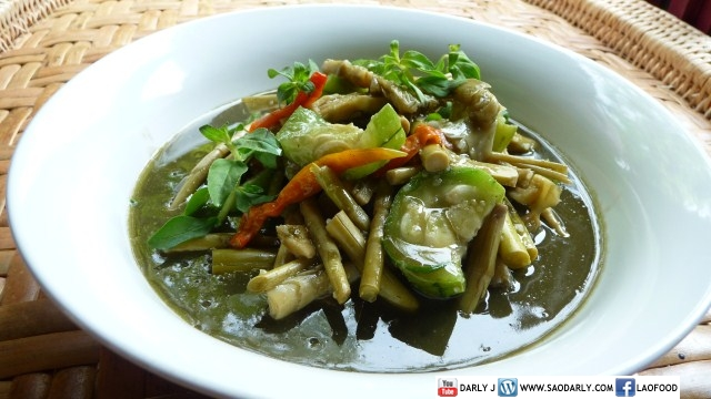 Lao Food - Bamboo Shoot Soup with Sponge Gourd