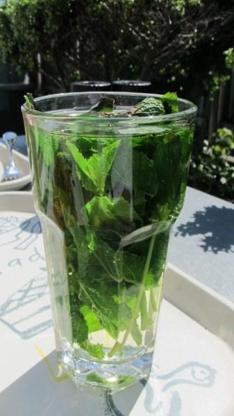 La Place Restaurant fresh mint tea