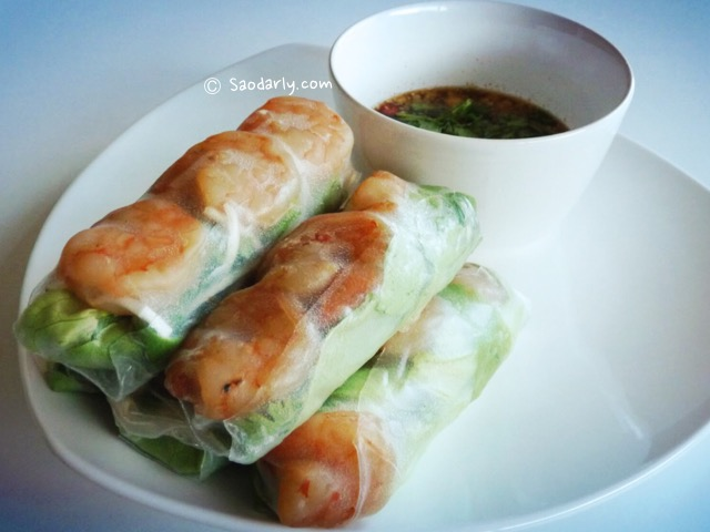 Fresh Spring Rolls for lunch