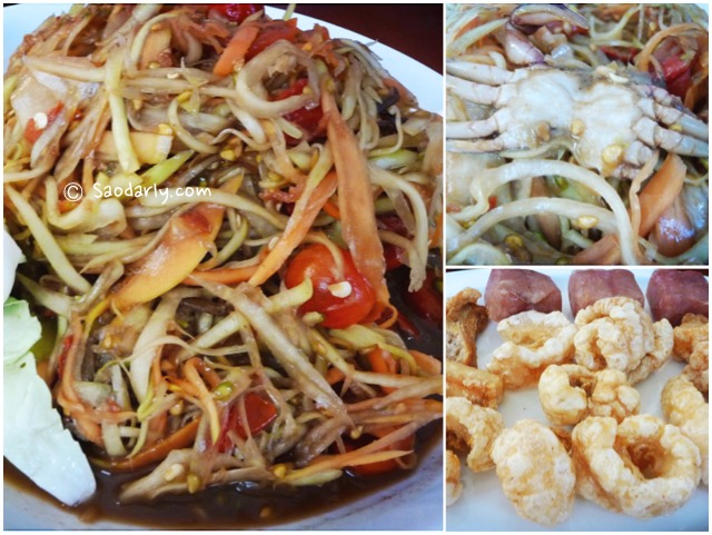 Papaya Salad with Raw Crab in Vientiane