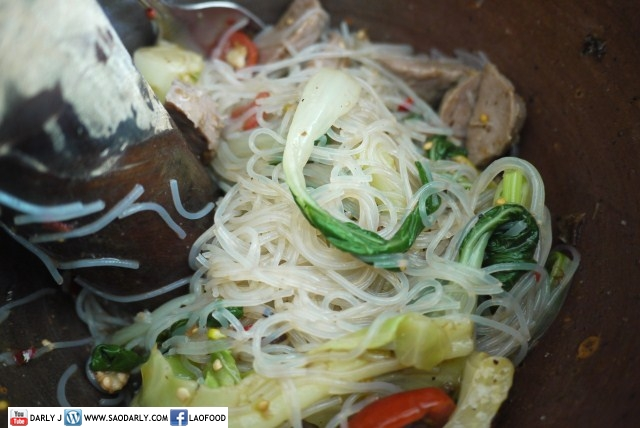 Spicy Glass Noodle Salad with Beef Ball