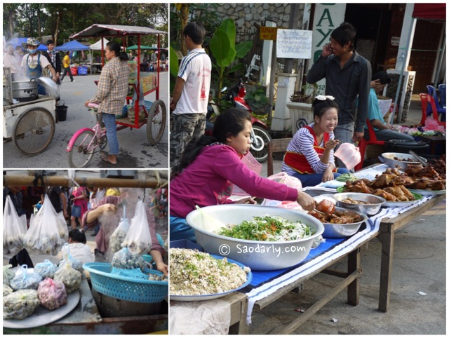 Lao Food at Luang Prabang Market Fair
