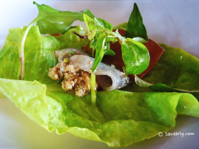 Lao Food Minced Fish Salad