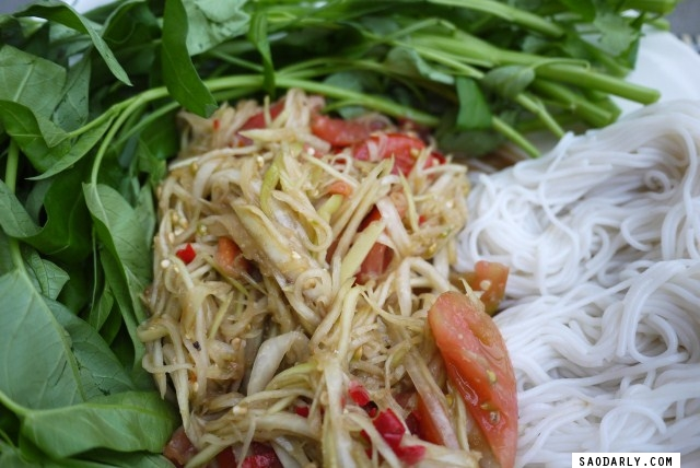 Papaya Salad for Sunday Dinner
