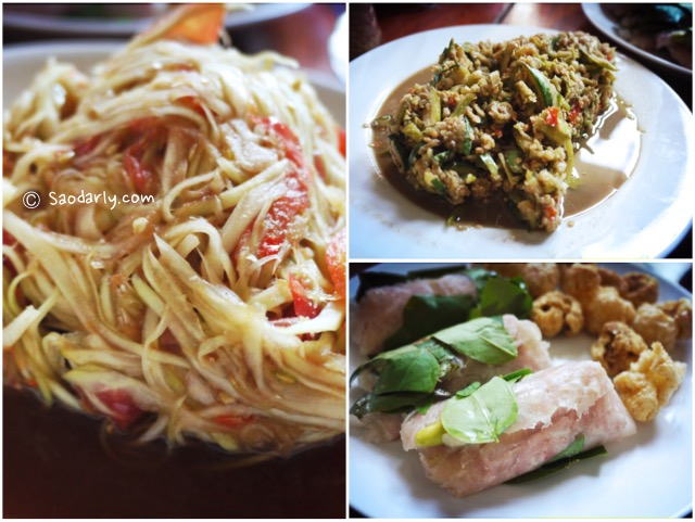 Lao Food for First Lunch in Vientiane