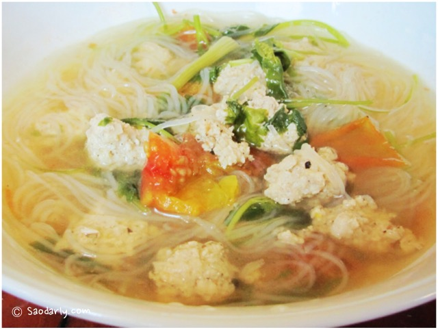 Cellophane noodles Soup