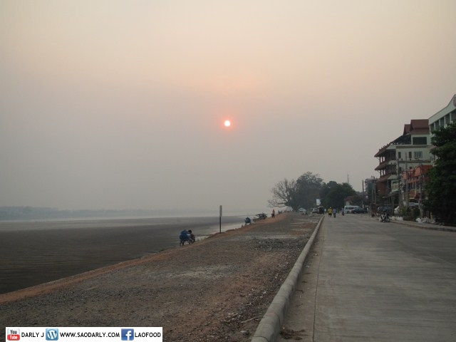 Sunset Walk in Vientiane, Laos