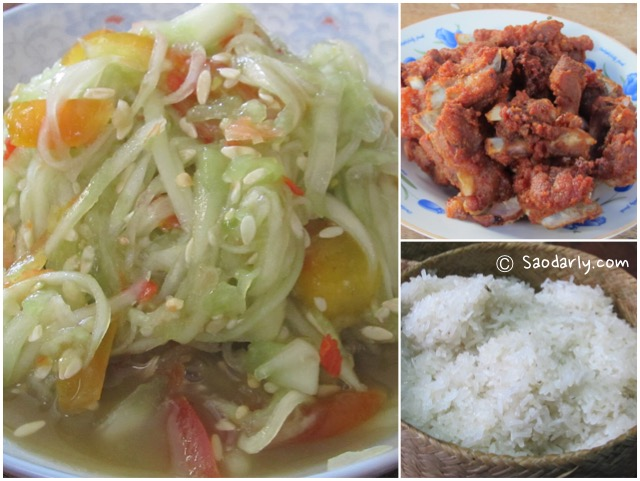 Cucumber Salad, Deep Fried Ribs