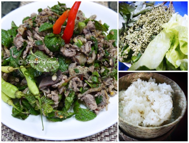 Lao Minced Duck Salad and soup