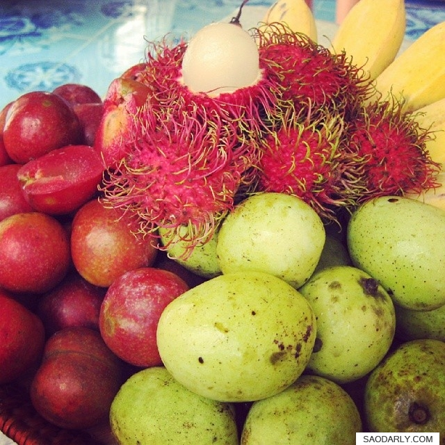 fresh fruits in Laos