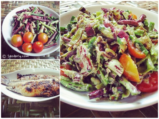Grilled Tilapia and String Bean Salad
