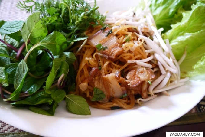 lao fried noodle