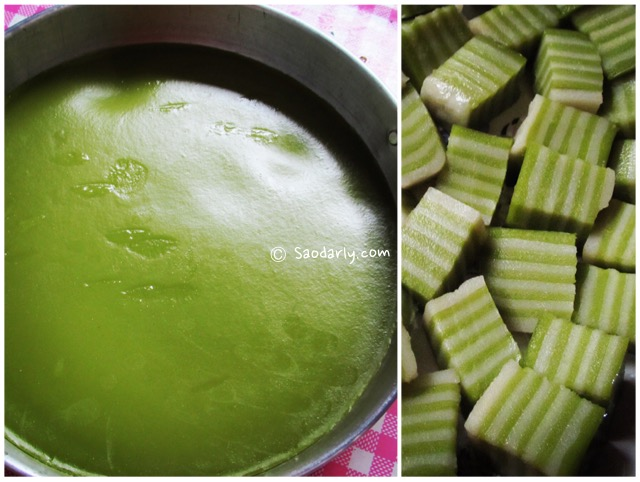 Steamed Pandan Layer Cake