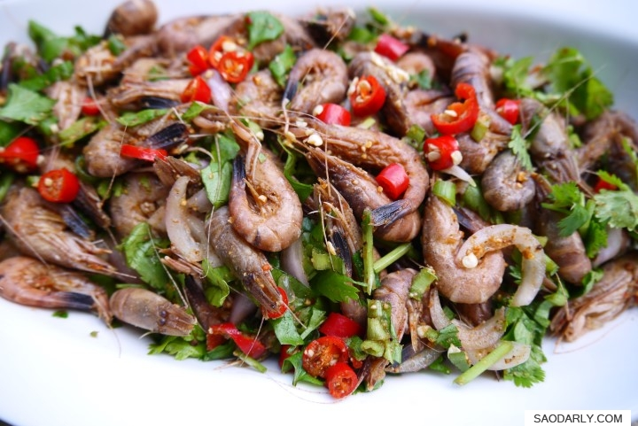 lao food larb shrimp