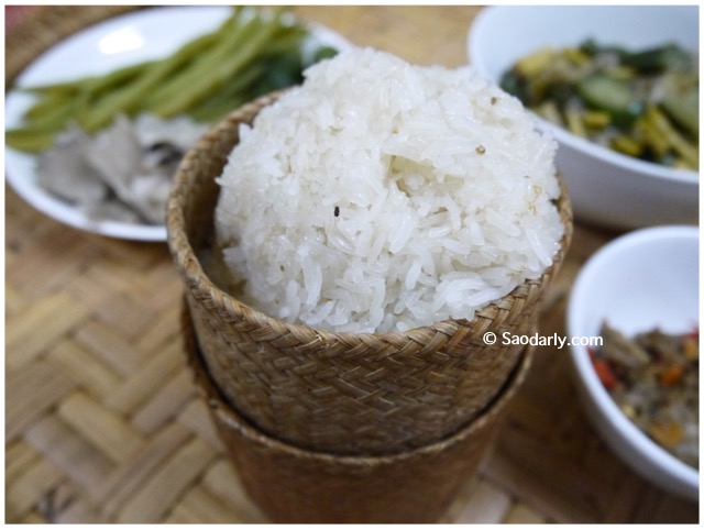 sticky rice in laos